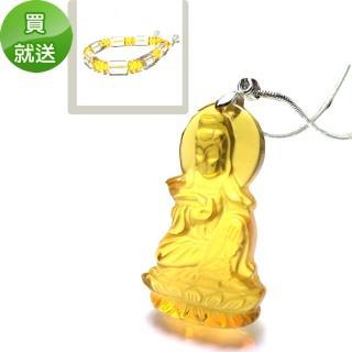 【YC寶石】黃琉璃如意觀音套組(琉璃 觀音)