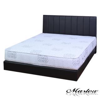 (Maslow-簡約線條黑色皮製)單人床組-3.5尺(不含床墊)