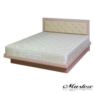(Maslow-簡約菱紋白橡)加大掀床組-6尺(不含床墊)