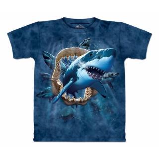 『摩達客』( 預購 )美國進口(The Mountain)Classic自然純棉系列 鯊魚攻擊 設計T恤