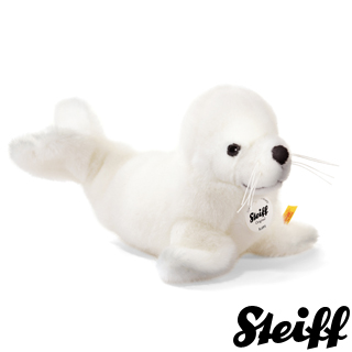 【STEIFF德國金耳釦泰迪熊】Robby Baby Seal 30cm(動物王國)