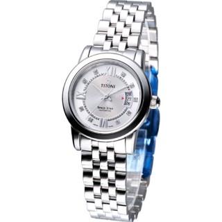【TITONI】世紀之星 女用機械錶(23738S-362)