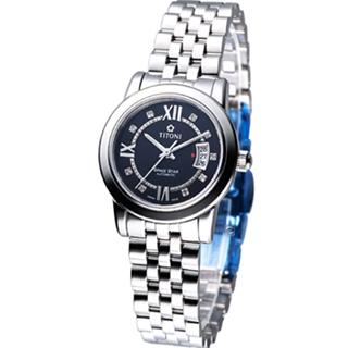 【TITONI】世紀之星 女用機械錶(23738S-363)