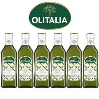 【Olitalia奧利塔】特級冷壓橄欖油禮盒組(500mlx6瓶)