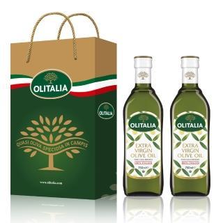 【Olitalia奧利塔】特級冷壓橄欖油禮盒組(750mlx2瓶)