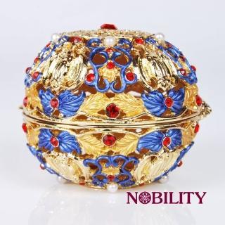 【三卡寶精品】五福捧壽 金屬擺件 工藝品 進口奧地利水鑽(珠寶盒)
