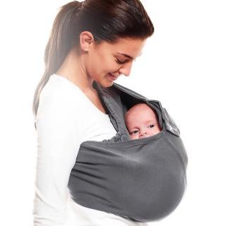 【荷蘭 wallaboo】酷媽袋鼠背巾(深灰色)