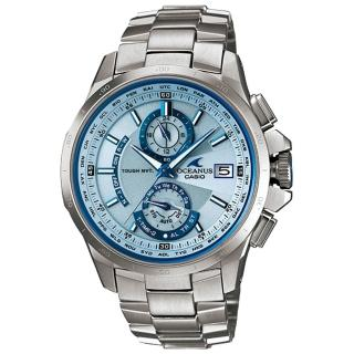 【CASIO】OCEANUS 動靜虛實鈦合金電波腕錶(銀)