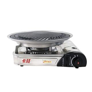 【卡旺】遠紅外線瓦斯爐+超級燒烤盤組(K1-1200V)