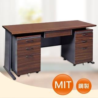 【時尚屋】150CM 胡桃木紋色辦公桌櫃組(252-6)