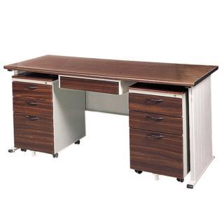 【時尚屋】150CM 胡桃木紋色辦公桌櫃組(250-9)