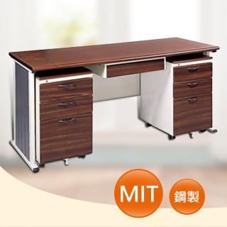 【時尚屋】150CM 胡桃木紋色辦公桌櫃組(246-6)