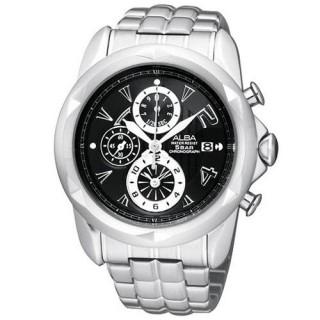 【ALBA】MISSING U系列奇幻三眼計時限量腕錶(黑)