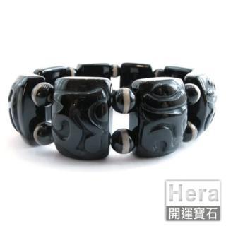 HERA特選財寶天王咒黑玉髓版環(-網)