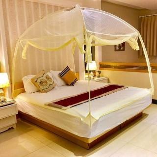 【威克爾】米色蒙古包睡帳/蚊帳(標準雙人床尺寸)