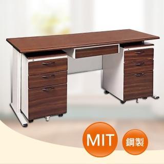 【時尚屋】150CM 胡桃木紋色辦公桌櫃組(253-9)