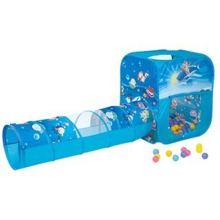 【寶貝樂】方形帳篷附隧道折疊遊戲球屋送100球