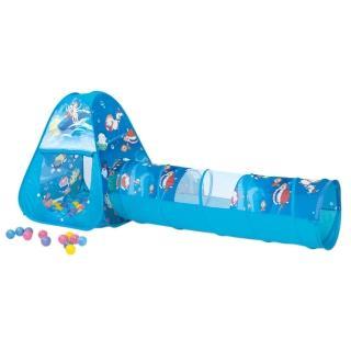 【寶貝樂】三角帳篷附隧道折疊遊戲球屋 (送100球)