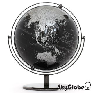 【SkyGlobe】10吋精緻黑色360度旋轉地球儀(英文版)