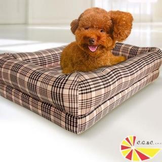 【凱蕾絲帝】英倫粉格記憶寵物時尚床墊(60*40cm)