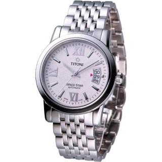 【TITONI】Spacestar 都會紳士機械腕錶(83738S-342)