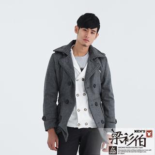 【快速到貨】梁衫伯-韓版厚料保暖毛呢大衣(共2色)