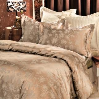 【義大利La Belle】花漾魅影-雙人緹花四件式被套床包組
