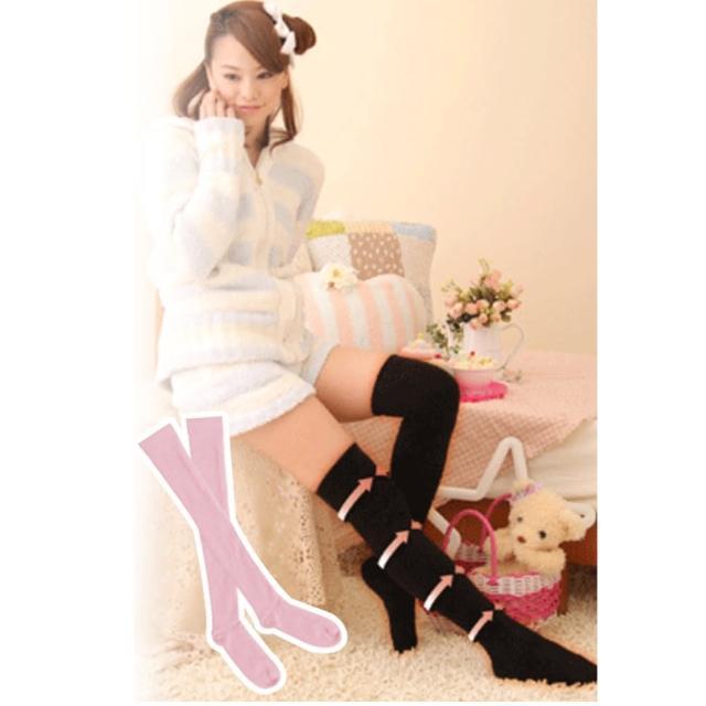 【日本Ageha小惡魔】發熱著壓機能保暖美腿襪