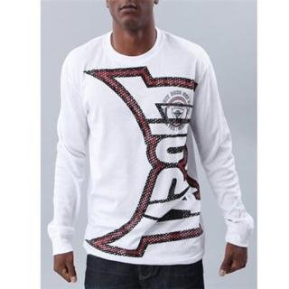 【摩達客】美國進口超人氣Tapout 紅白Logo白長袖T恤