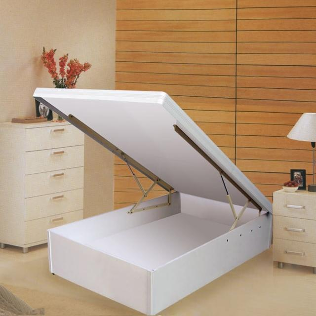 【Maslow-特高型40公分白色】單人後掀床架-3.5尺
