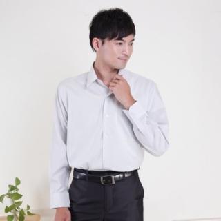 【JIA HUEI】長袖柔挺領男仕吸濕排汗襯衫 3158系列 條紋灰(台灣製造)