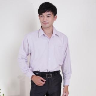 【JIA HUEI】長袖柔挺領男仕吸濕排汗襯衫 3158系列 條紋粉(台灣製造)