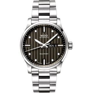 【MIDO Multifort 】系列經典鋼帶腕錶(M0054301106100-黑)