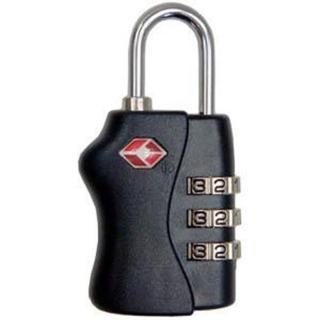 PUSH!旅遊用品 3碼式TSA 專用海關鎖 行李鎖(黑色)