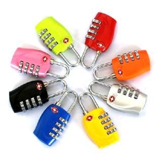 PUSH!旅遊用品 四碼式TSA 專用海關鎖 行李鎖(3色現貨供應)