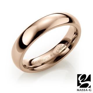 【MASSA-G】Deco純鈦系列鈦金純愛(玫瑰金鈦金戒)