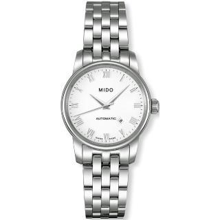 【MIDO Baroncelli 】簡約機械鋼帶腕錶(M76004261-銀)