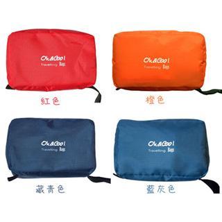 PUPSH!旅行用品 防水防汙防撕裂 盥洗用具包(藏青、紅色)