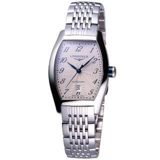 【LONGINES Evidenza 】藝術酒桶型女錶(L21424736)