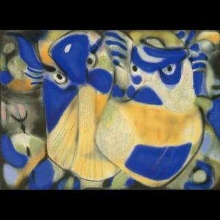 【劉其偉藝術典藏】親筆簽名限量發行石版畫(民俗系列--孫子兵法)