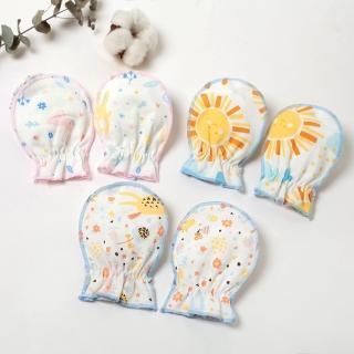 【聖哥Newstar】MIT純棉新生兒嬰兒護手套-簡約設計-藍-粉(純棉 素色 MIT)