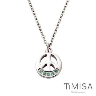 【TiMISA】和平風尚-彩色版 純鈦項鍊E(3色可選)