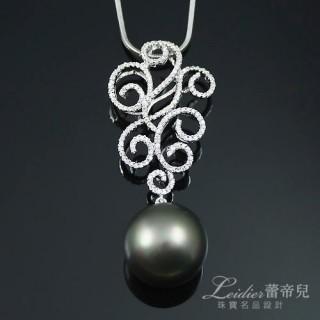 【蕾帝兒名品】繾綣黑色貝殼珍珠墜