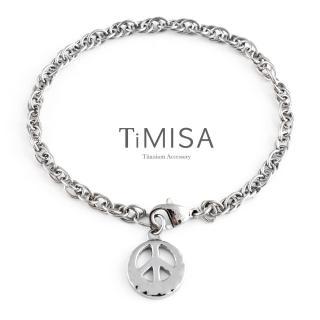 【TiMISA】和平祈願-原色 純鈦手鍊