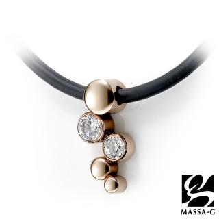 【MASSA-G X 貝兒朵朵】蜜桃蘇打 搭配合金鍺鈦項圈