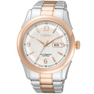 【CITIZEN】逆戰世紀都會機械腕錶(半金NH8314-52A)