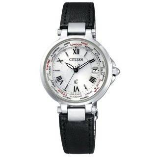 ~CITIZEN~Xc 光動能復古曲線電波時計腕錶^(黑 EC1010~06A^)