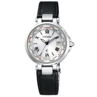 【CITIZEN】Xc 光動能復古曲線電波時計腕錶(黑 EC1010-06A)