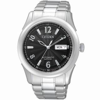 【CITIZEN】逆戰世紀都會機械腕錶(黑NH8310-53E)
