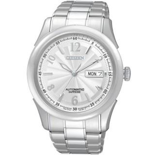 【CITIZEN】逆戰世紀都會機械腕錶(銀NH8310-53A)